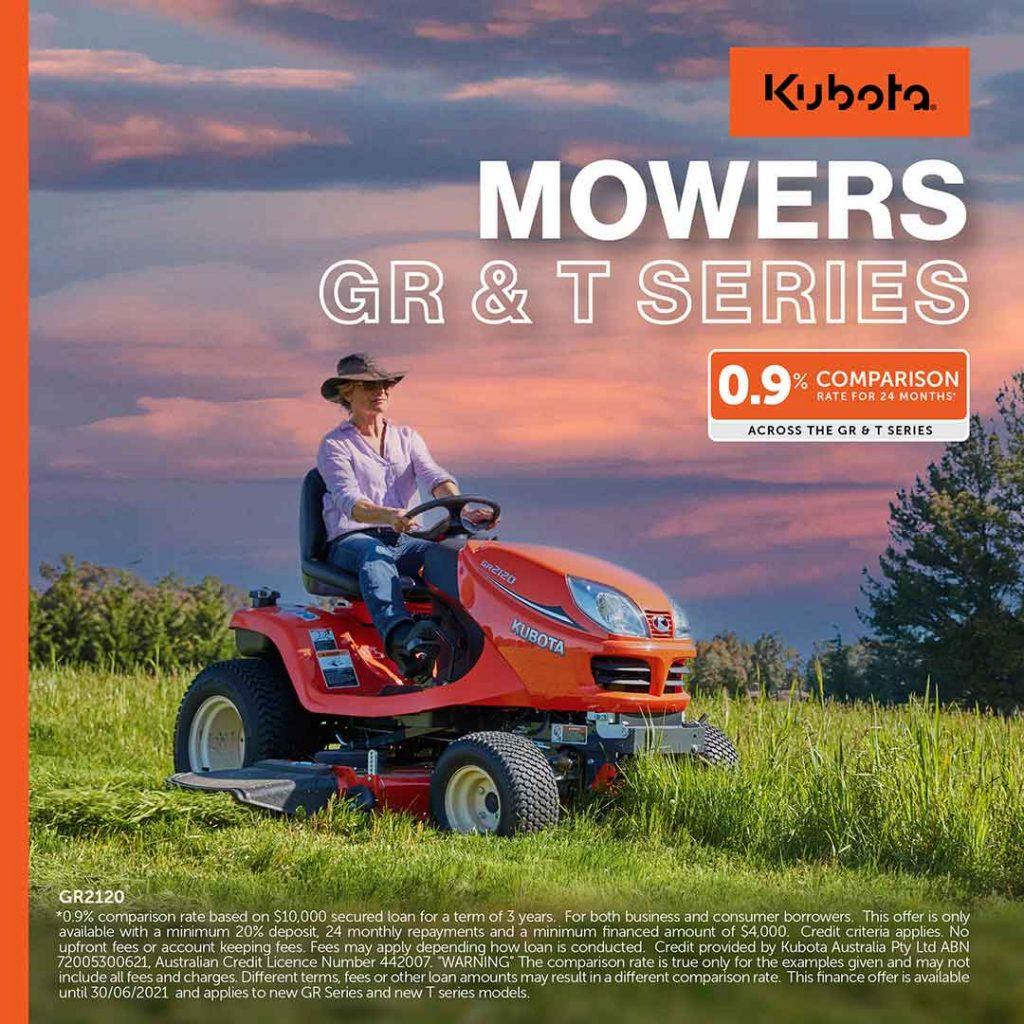 Kubota GR Series Mowers Kubota T Series mowers catalogue offers 2021