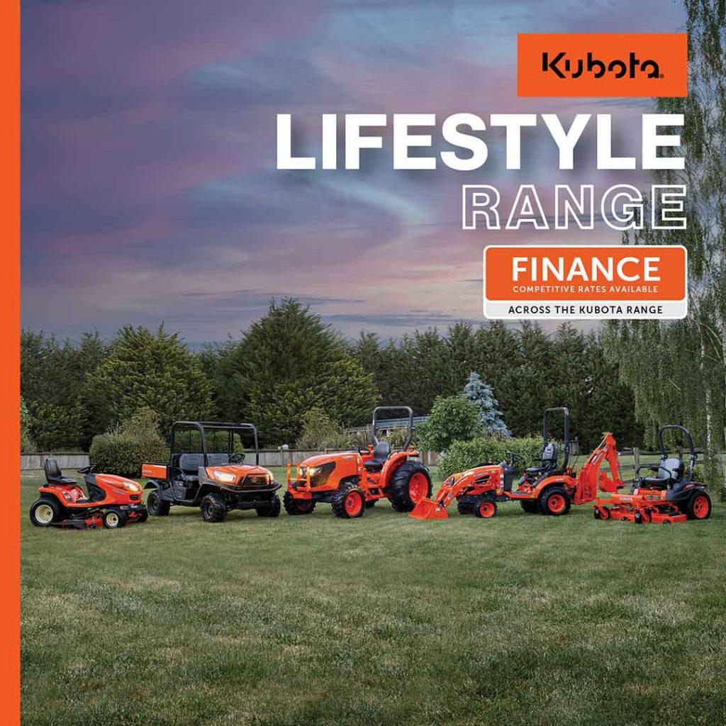 kubota lifestyle range offers