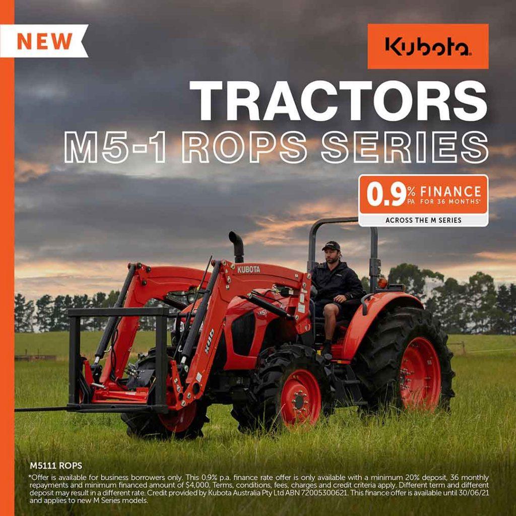 Kubota M5-1 Rops Series Tractors
