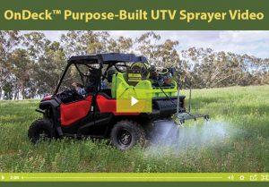 OnDeck™ Purpose-Built UTV Sprayer