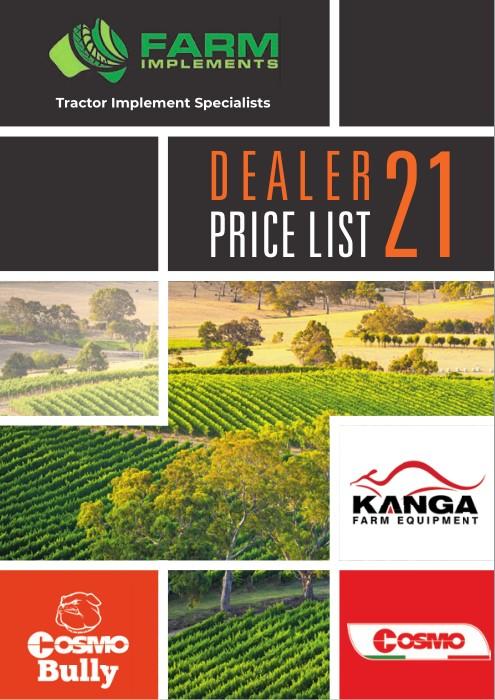 Farm Implements 2021 Price List