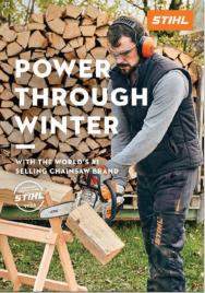 Stihl Power Through Winter 2021 catalogue link image