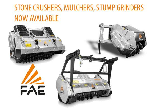 FAE Group Stump Cutters Mulchers Tillers